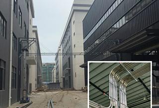 联塑新厂塑料粒输送管道工程