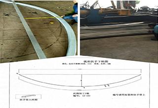 海口某商场316弧形扶手工程